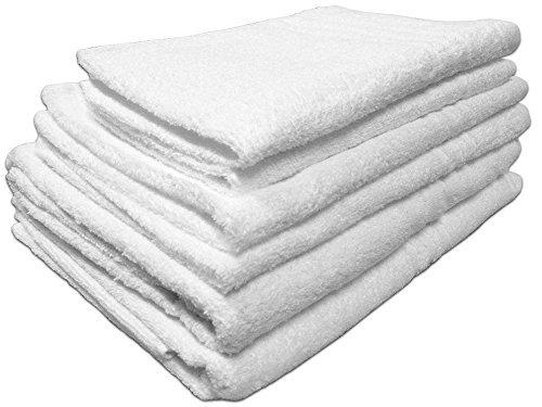 set 2 tris di asciugamani in spugna bianchi 2 teli bagno 2 asciugamani 2 ospiti