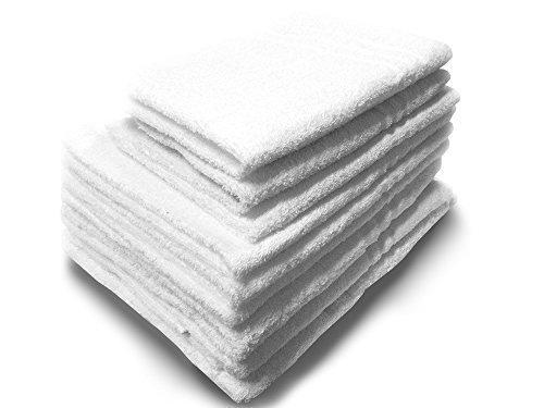 set 3 tris di asciugamani in spugna bianchi 3 teli bagno 3 asciugamani 3 ospiti