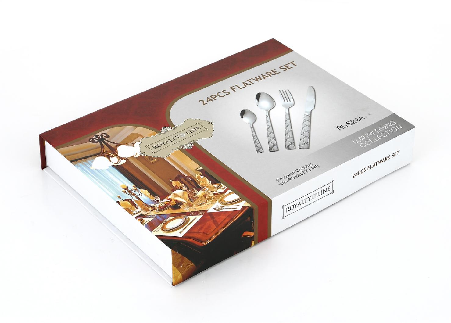 1090 - royalty line - euroricami viterbo - set posate coltelli e ... - Utensili Cucina On Line