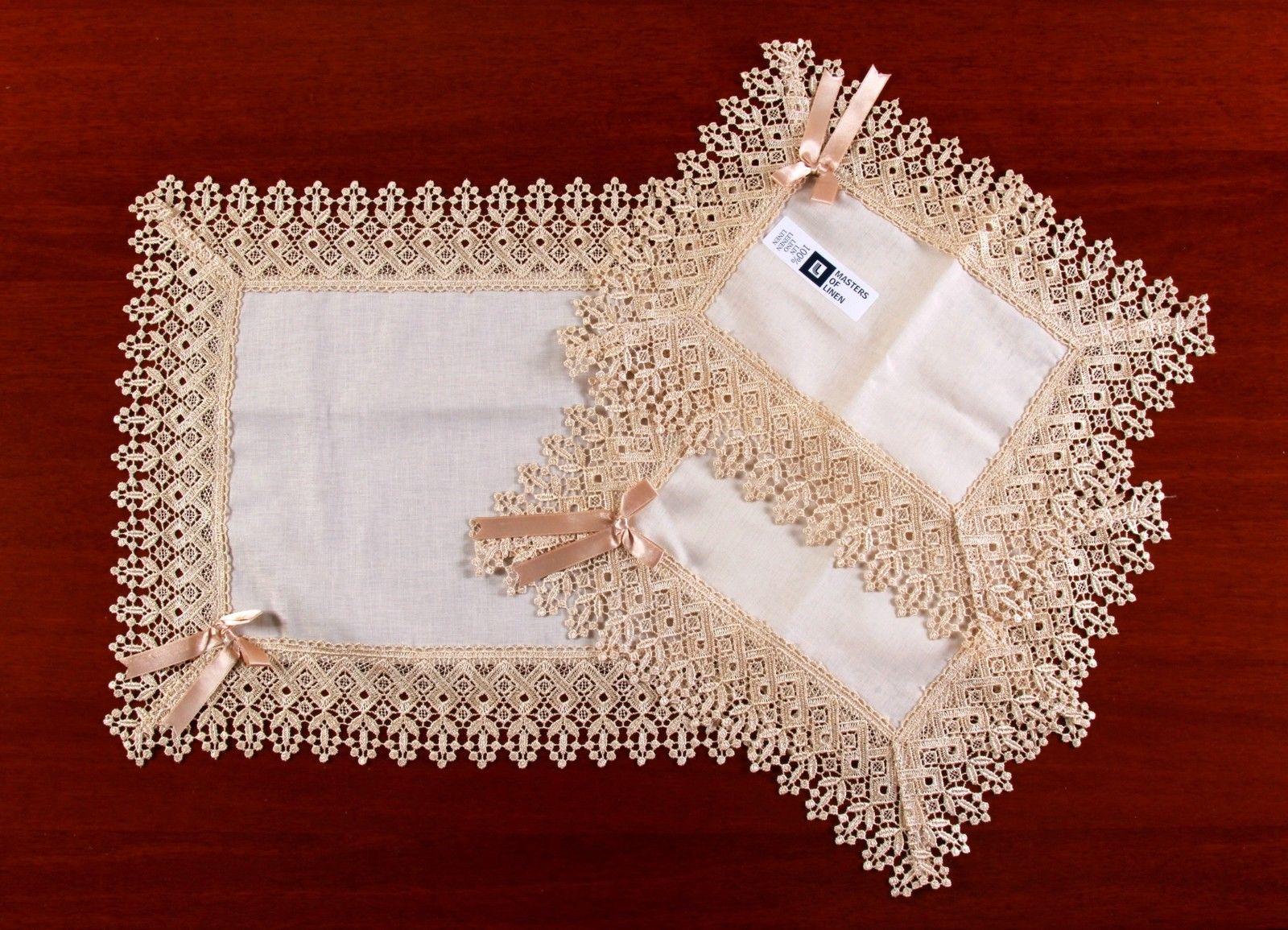 Set Centrini 3 Pz - art. Veronica in Puro Lino | eBay