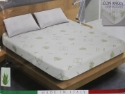 Mattress cover in Aloe Vera anti-dust MITE 2 squares