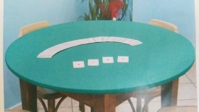 Dining table rubber sottotovaglia double face with elastic
