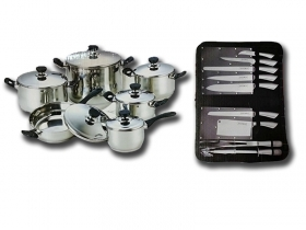 Set di Pentole Batteria Bavaria Set Barbecue Royalty Line 22 Pz