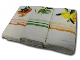 SET OF 3 DISH TOWELS COLORED