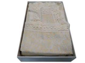 Double bedspread Brocade with Macrame'