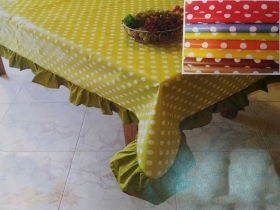 TABLECLOTH PVC TARPAULIN POLKA DOTS WITH HANDWHEEL