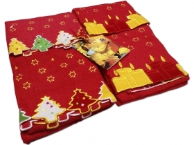 Set Of 2 Pairs Towels Christmas