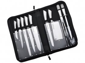 Set BARBECUE coltelli 10 pezzi Royalty Linea con custodia