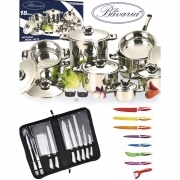 BATTERY POTS BAVARIA SET BARBECUE AND KNIFE ROYALTY LINE 36 PIECES