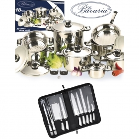 Set di Pentole Batteria Bavaria Set Barbecue Royalty Line 28 Pz