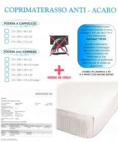 Mattress cover anti-MITE 2 Squares with the corners