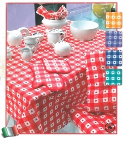 Printed tablecloth for 12-18-24 people