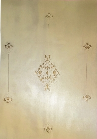 Curtain in Linen with embroide