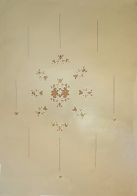 Curtain in Linen with embroidery to Carving
