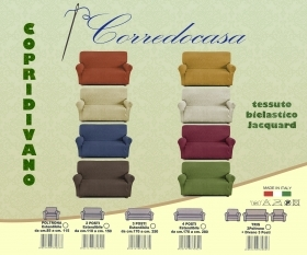 Copridivano 2 seater fabric elastic color of your choice