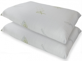 Pillow case in Aloe Vera anti-