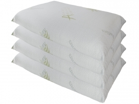 Set of 4 cushion covers with zipper in Aloe Vera anti-dust Mite MADE IN ITALY