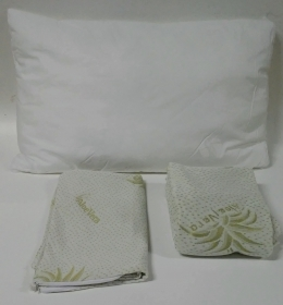 Set 3pcs Full Aloe Vera Single Bed Mattress cover - Pillow case - Pillow